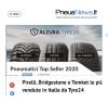 Pirelli, Bridgestone e Tomket le più vendute in Italia da Tyre24